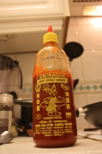 SRIRACHA! Nectar of the Gods.