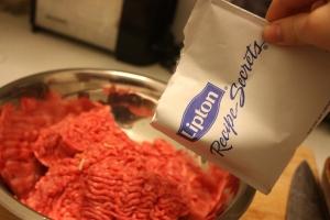 Onion burgers - Lipton