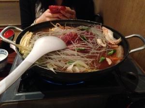 Kimchi beef hotpot