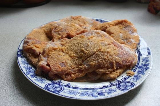 baked pork schnitzel