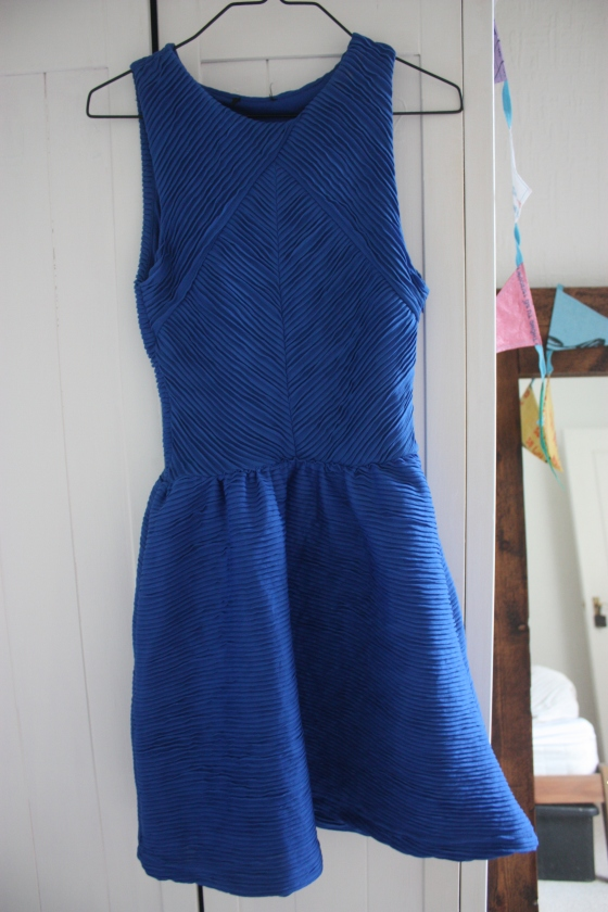 vinted blue topshop dress