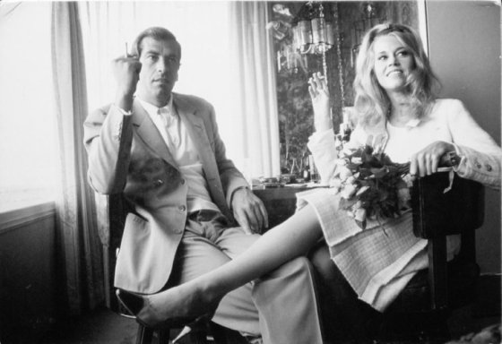 Dennis Hopper Jane Fonda and Roger Vadim at Their Wedding in Las Vegas, 1965 Photograph, 17.02 x 24.87 cm The Hopper Art Trust © Dennis Hopper, courtesy The Hopper Art Trust. www.dennishopper.com