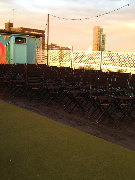 Rooftop film club, Shoreditch