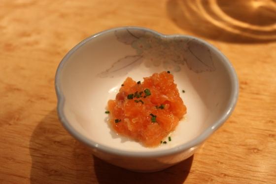 salmon tar tar