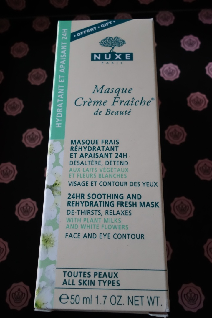Nuxe face mask