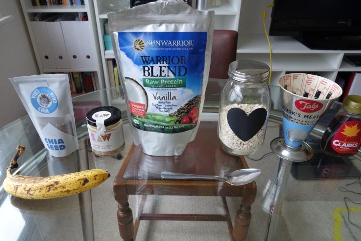 almond butter banana gluten free overnight oats
