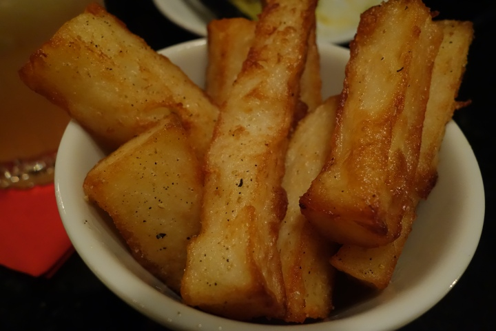 Old Tom and English: triple cooked chips